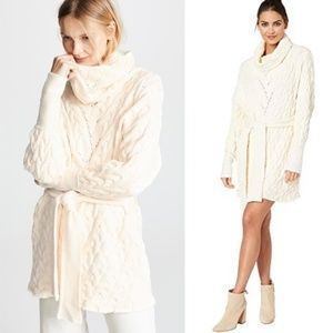 Free People For the Love of Cables Sweater Dress M